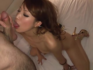 Frisky babe with tiny tits, Anna Sayori got banged good