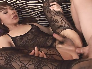 Beautiful Thai ladyboy fucked in her tight ass