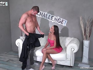 Hardcore blowjob and pussy fuck from brunette babe Mea Melone