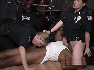 THREESOME with BIG-DICKED black male at the crime scene