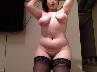 Provocative Babe Pawg Twerks On A Dildo Till She Cums - PAWG