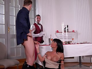 Mature bombshell whore Valentina Ricci pounded and cum covered