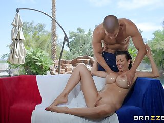 Alexis Fawx oiled her stunning body and pussy for the best cum ever