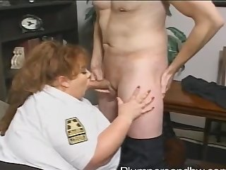 BBW police officer Zazie Jeannete gets brutally fucked