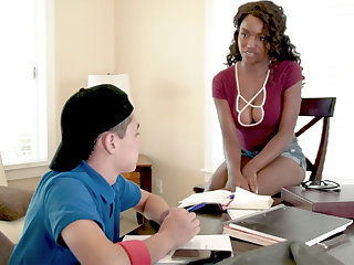 Black MILF Teacher Fucks Teen Boy
