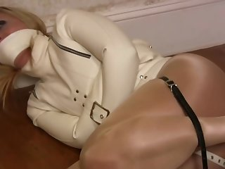 Crystal Frost in a Latex Straightjacket
