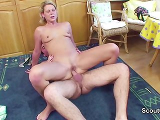 Step-Son Seduce 43yr old German Step-Mother to Make Love