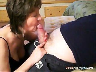 Horny Blowjob With Sexy Granny