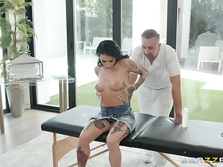 Joanna Angel loves all different sex poses with her horny masseur