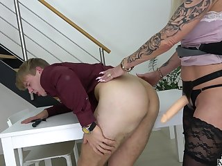 Excellent scenes of femdom and anal with a slutty mature