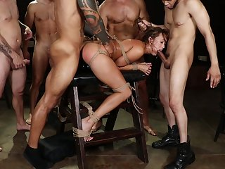 Asian whore gang bang sex and brutal bondage pleasures
