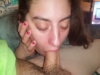 I'm willing to bet that pussy is good and this amateur whore loves giving head