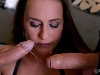 Mea Melone loves to feel pleasure by two dicks at the same time
