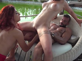 Teacher Assfuck Outdoor 3Some Sex