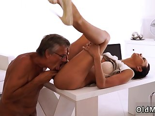 Sex with old senior and daddy eat me first time Finally