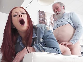 A photo session makes her wet and her mind fills with lust for an old man