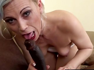 Sexy blonde mature women take big black dicks in their mouths and give great blowjobs