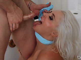 Busty mature wife Kristina Shannon gets fucked in the toilet
