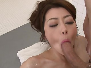 Japanese wife is intrigued about a possible facial in the end