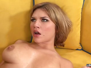 Big-Chested honey, Leah Livingston is nude and too wild to hold back from cuckold on her accomplice