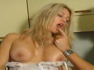 Busty blonde stunner cuckolding her boyfriend