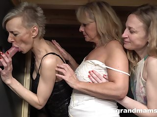 Dirty-minded mature sluts share cock for fantastic riding session