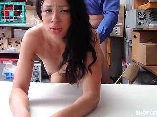 Dirty minded brunette, Amethyst Banks was hoping for a good fuck when she was caught shoplifting
