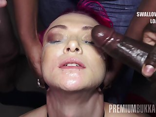PremiumBukkake - Daniella Ray swallows 74 huge mouthful cumshots