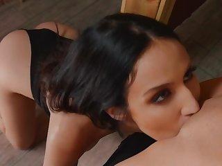 Erotic oral fun between soft lesbians