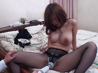 Sexy Japanese with big tits, home amateur tryout on cam