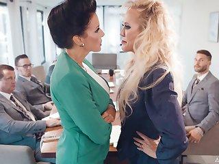 Premium matures get intimate during board meeting