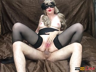 Girl Fucked In All Holes Deep Blowjob With Red Lips Ass To Mouth Cum