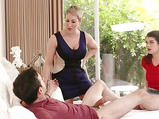 Dirty MILF is happy to try stepdaughter's boyfriend